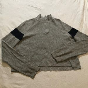 Brandy Melville USA Grey Sweater Quarter-Zip